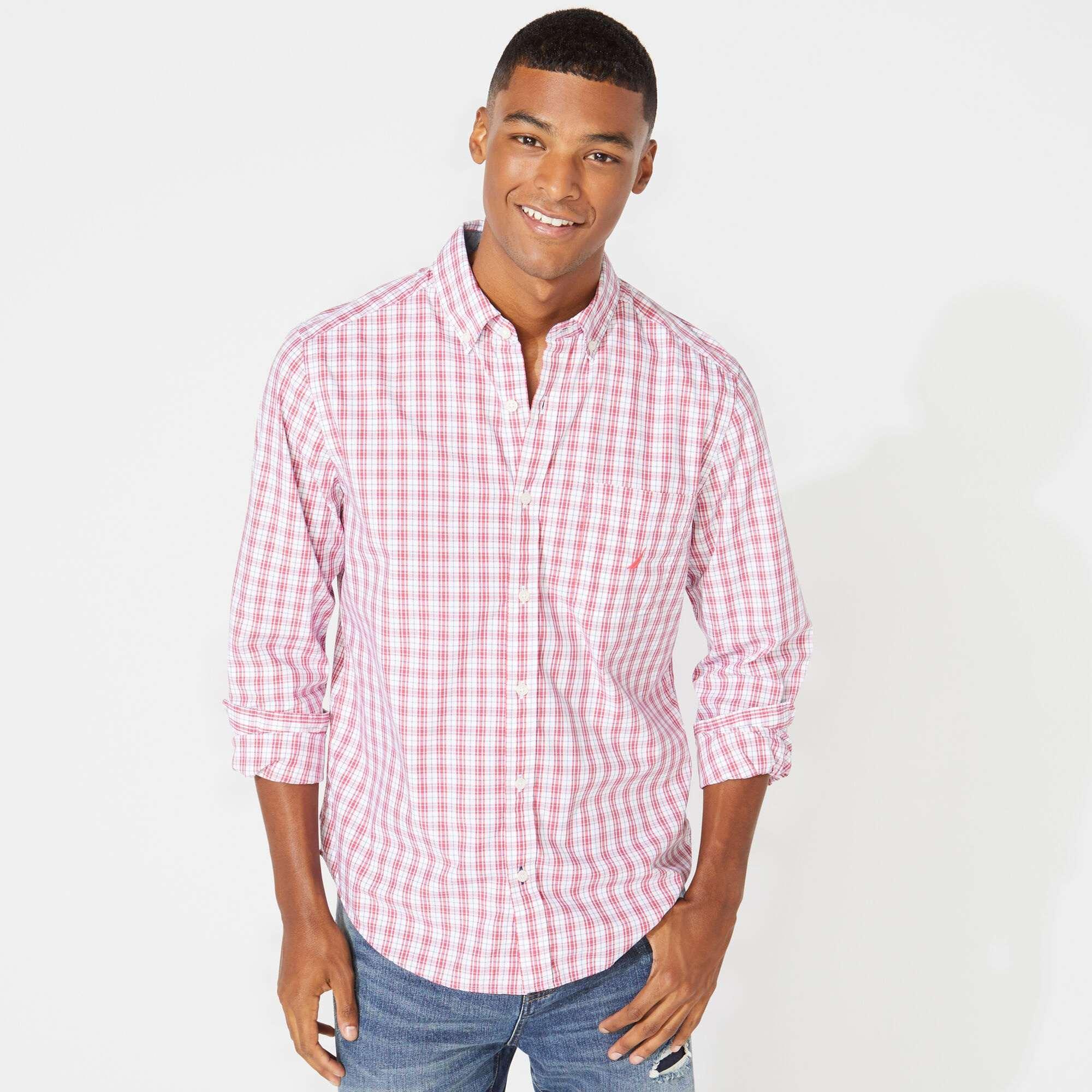 格子长袖衬衫