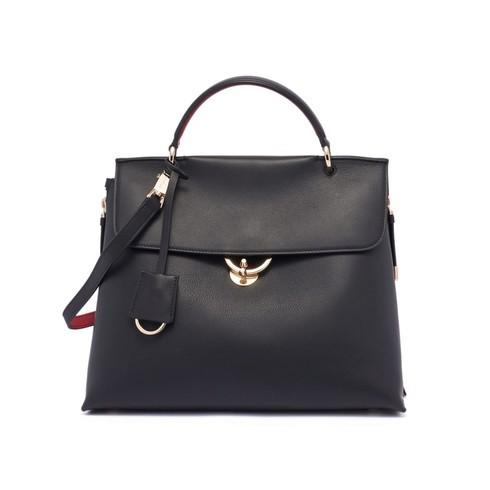 Salvatore Jet Set Black Leather Bag