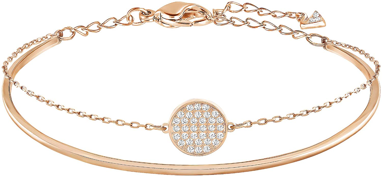 Swarovski Women's Rose-gold tone plated Ginger Bangle手链