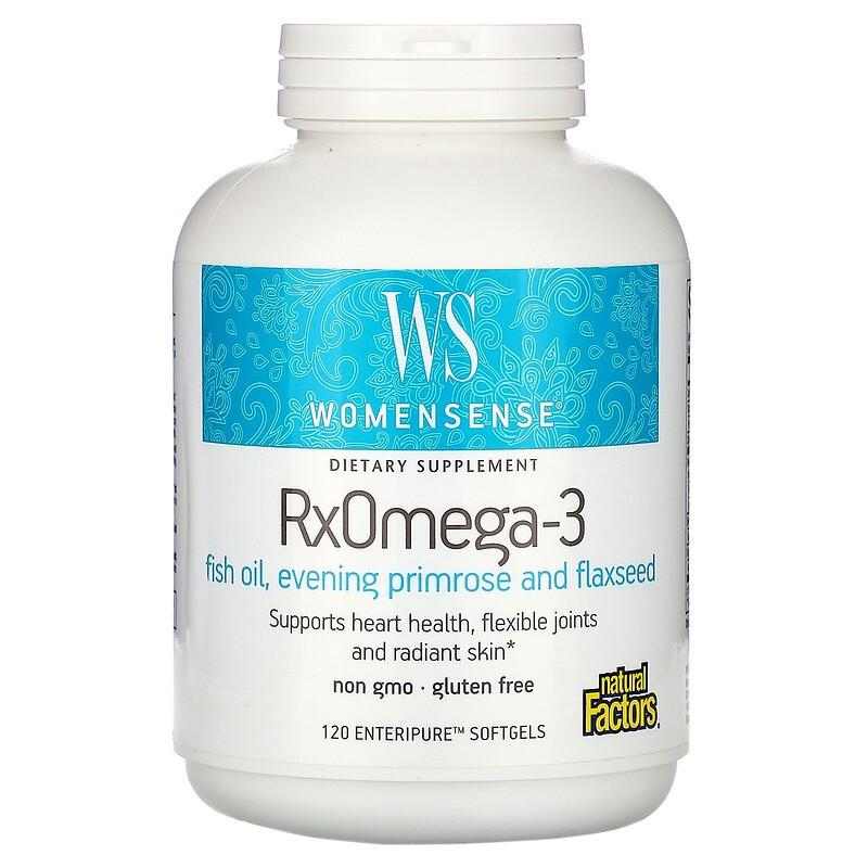 Natural Factors, WomenSense,RxOmega-3,肠溶软凝胶