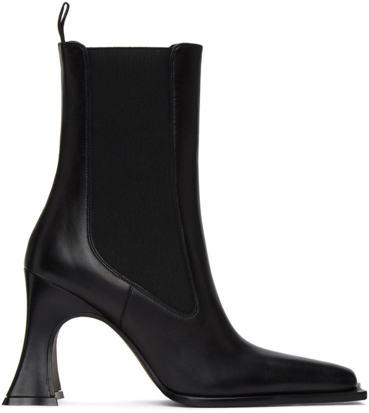 黑色高跟切尔西靴