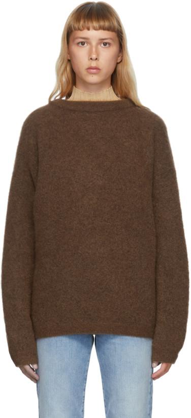 棕色大廓形毛衣