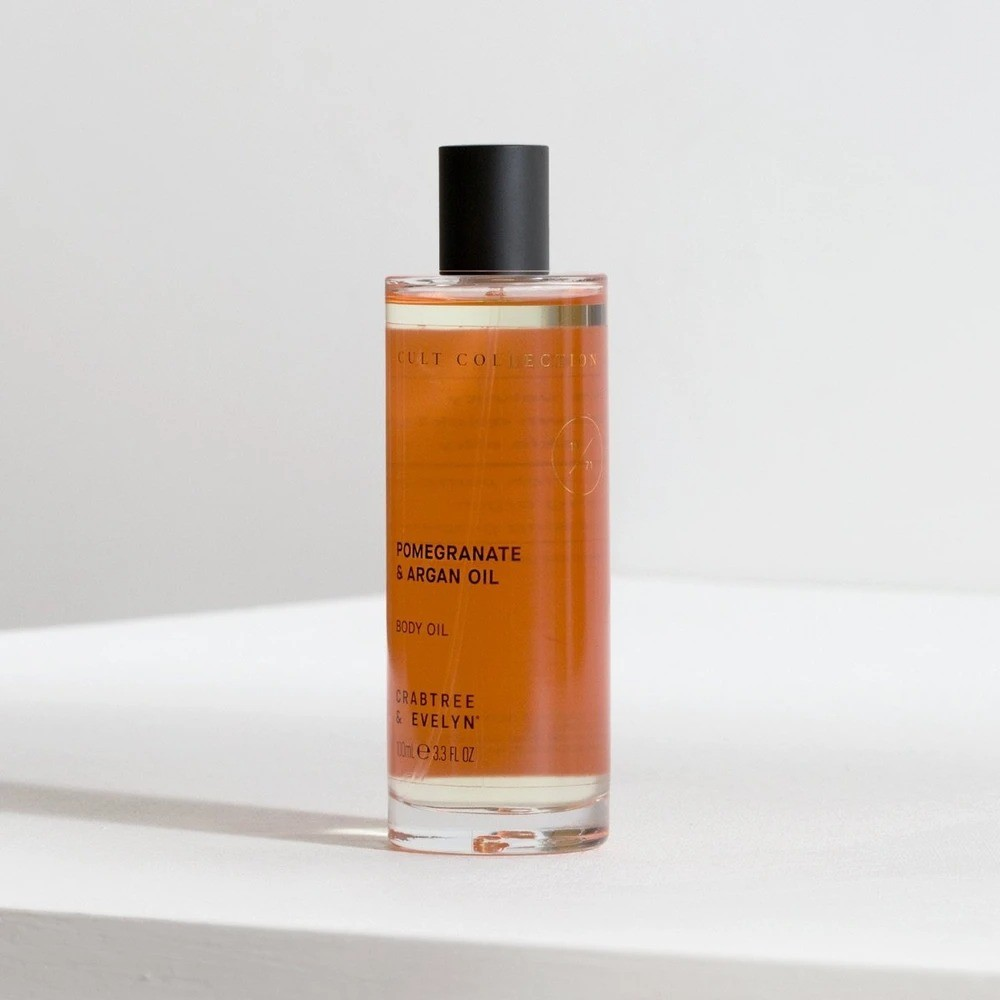 Crabtree & Evelyn 石榴和摩洛哥坚果油身体油 100ml