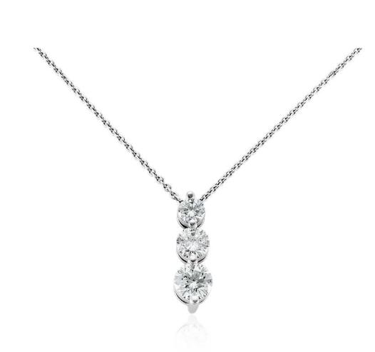 """钻石"""" V""""形条状项链"""
