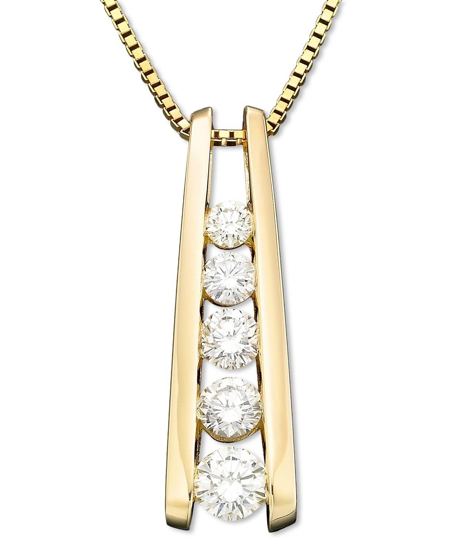 钻石旅行吊坠项链