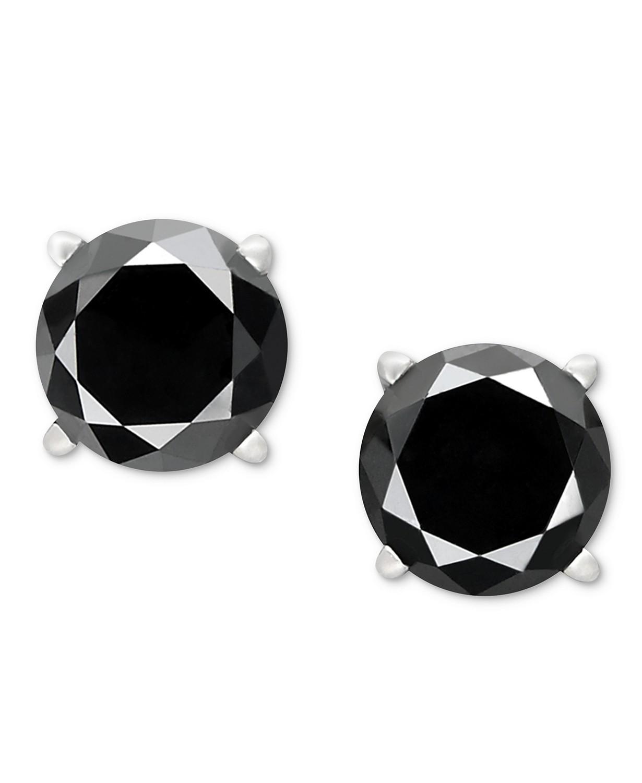 黑色钻石耳钉