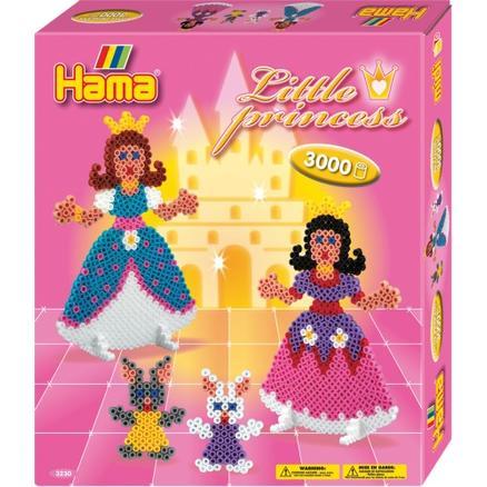HAMA 哈玛 小公主们造型儿童diy创意益智玩具百变彩珠 3000粒 1套