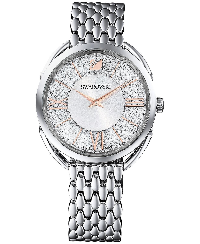 水晶玻璃不锈钢手链手表