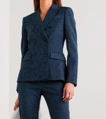 ALTUZARRA Indiana 双排扣刺绣梭织西装外套