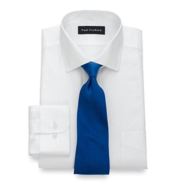 纯棉展开式法式袖口衬衣