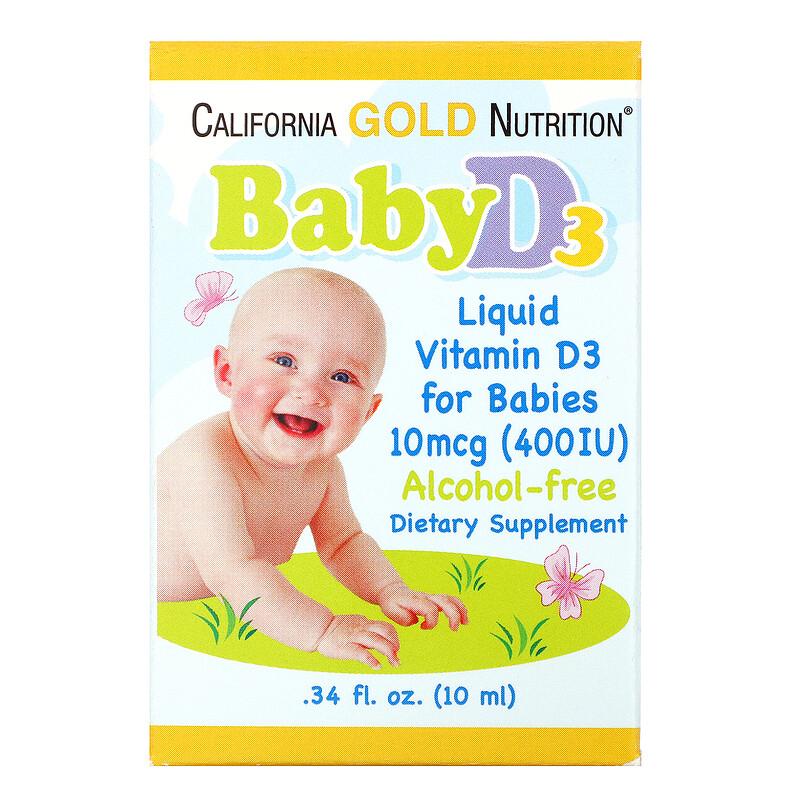 California Gold Nutrition 婴儿维生素 D3 滴剂