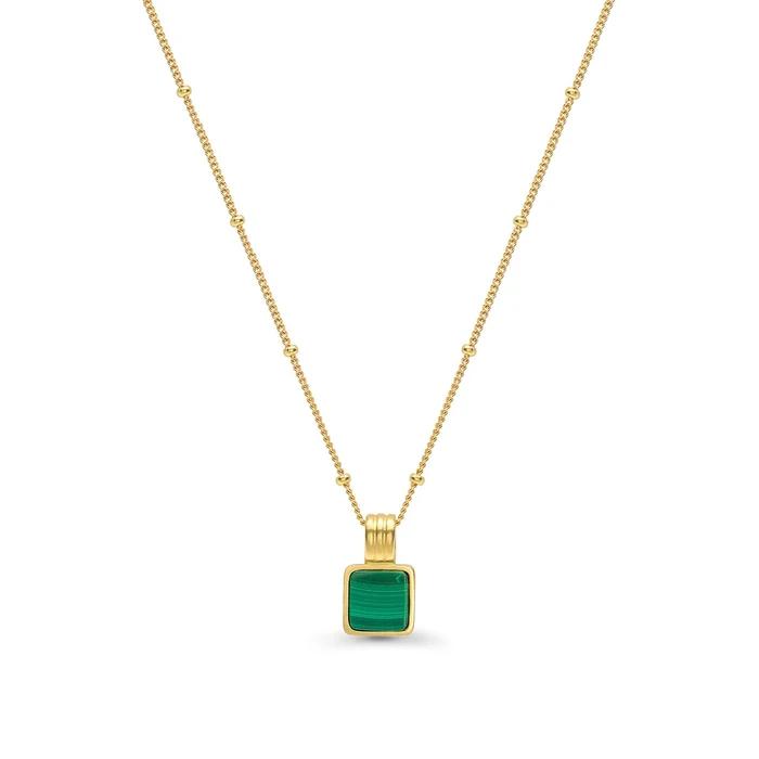 绿宝石金项链