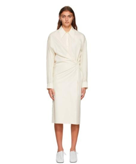 纯白衬衫裙