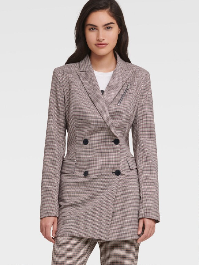 西装格纹外套