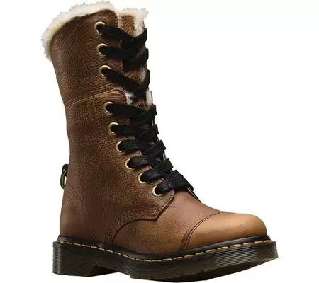Aimilita 9孔加绒马丁靴