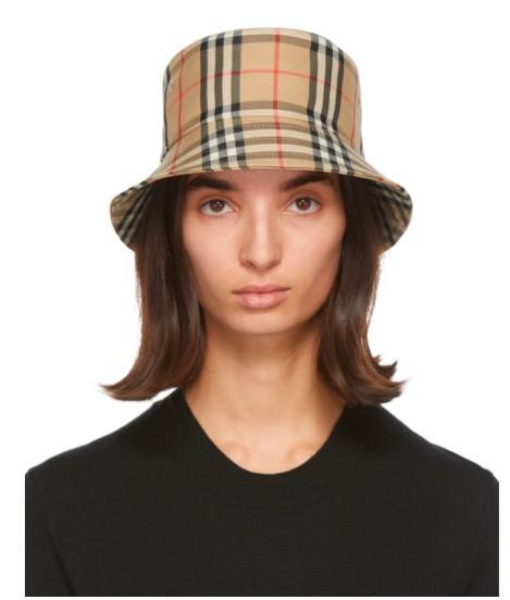经典格纹渔夫帽