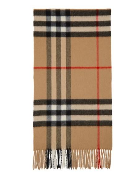 羊毛经典格纹围巾