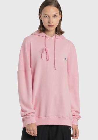 粉色logo帽衫