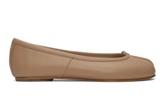 棕色Tabi德比分趾单鞋