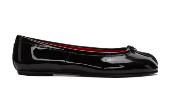 黑色Tabi德比分趾单鞋