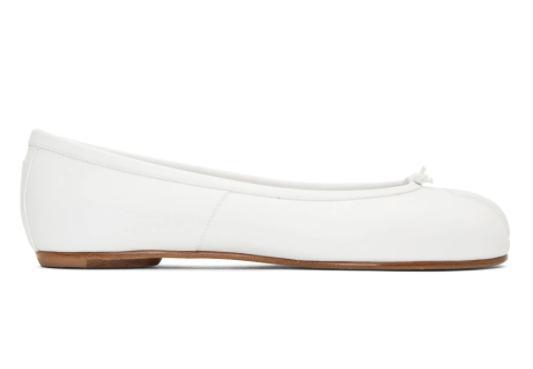 白色Tabi德比分趾单鞋