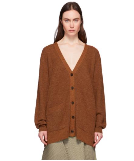 女士棕色开衫