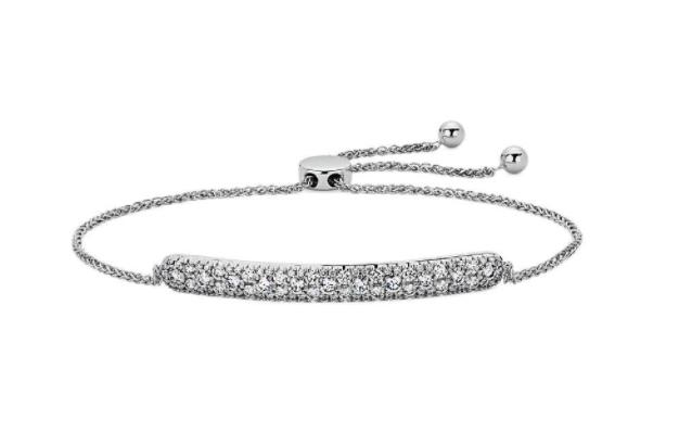 发散式钻石条状波洛手链