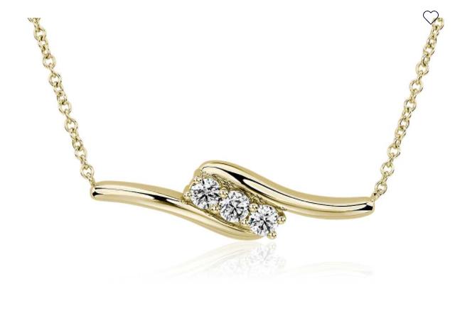 钻石迂回项链