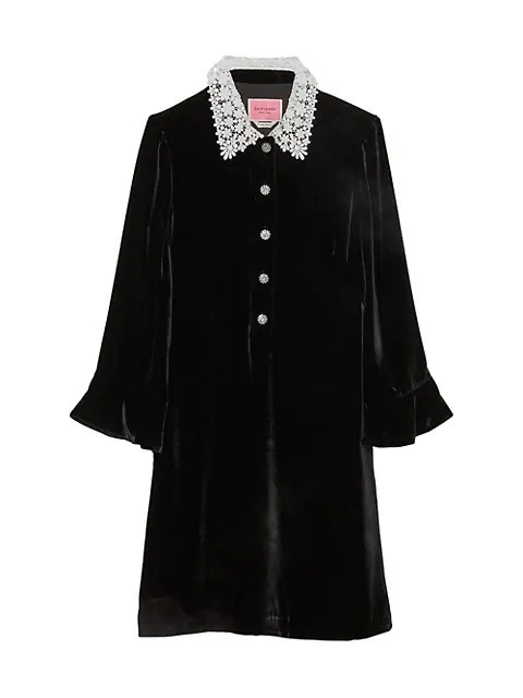 Kate Spade New York 丝绒小黑裙