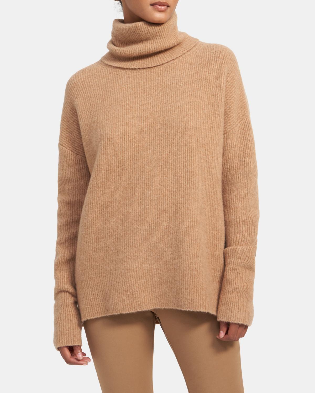 高领羊毛毛衣