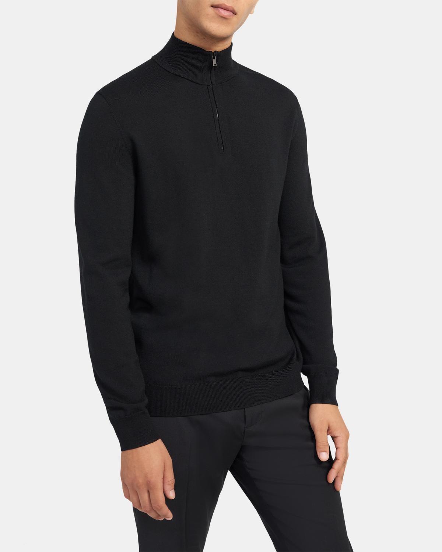 半拉链羊毛衫