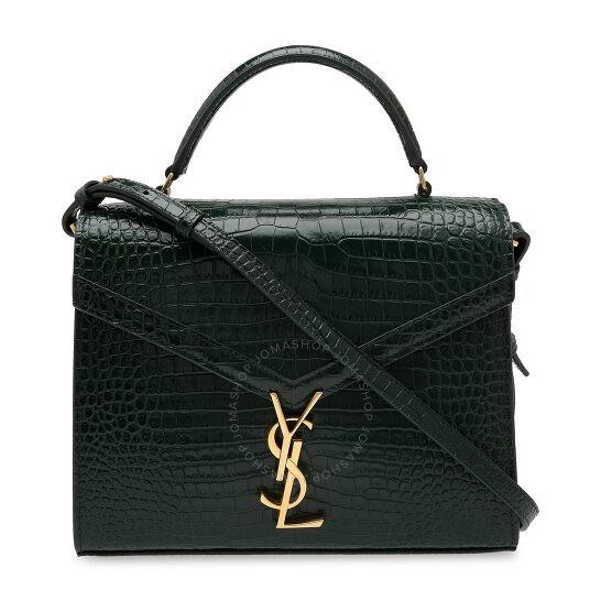 绿色纹路手提包