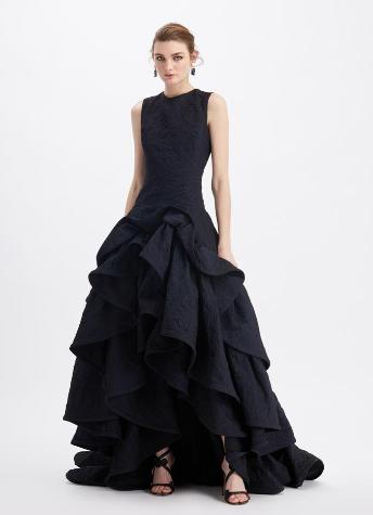 蓬松裙摆长裙