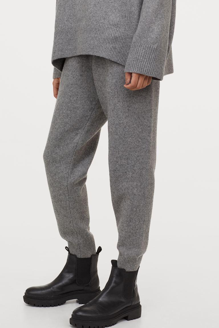 针织慢跑裤
