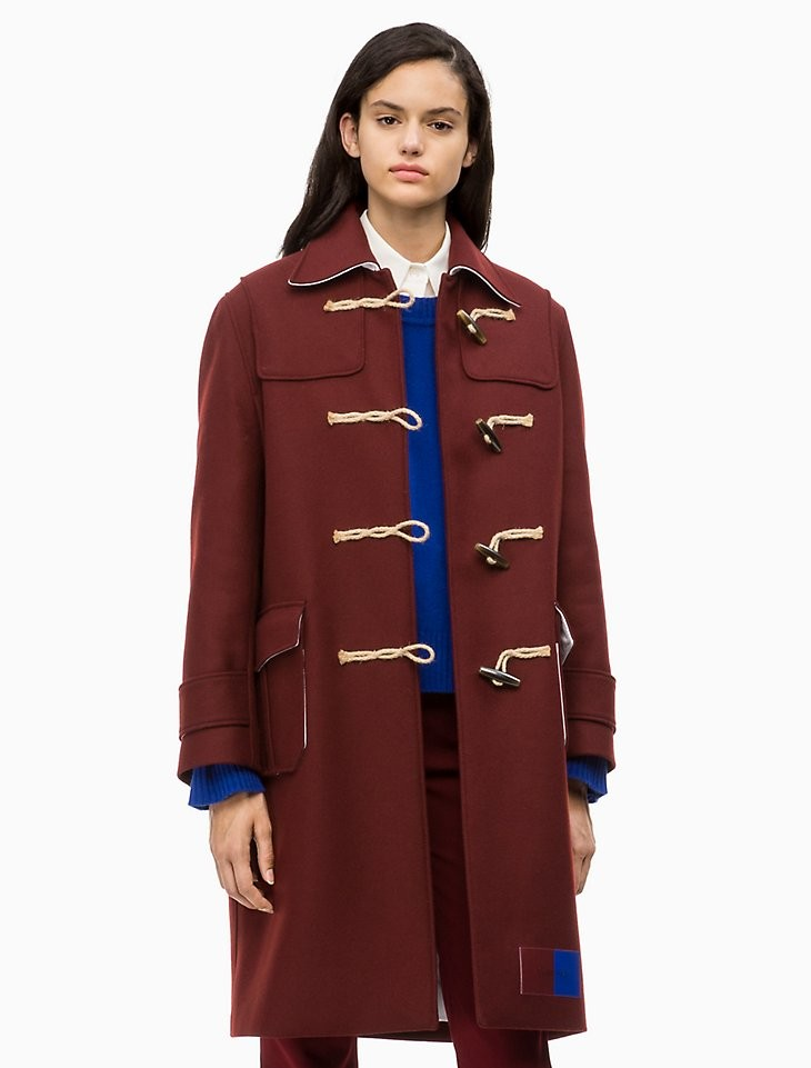 羊毛粗呢大衣