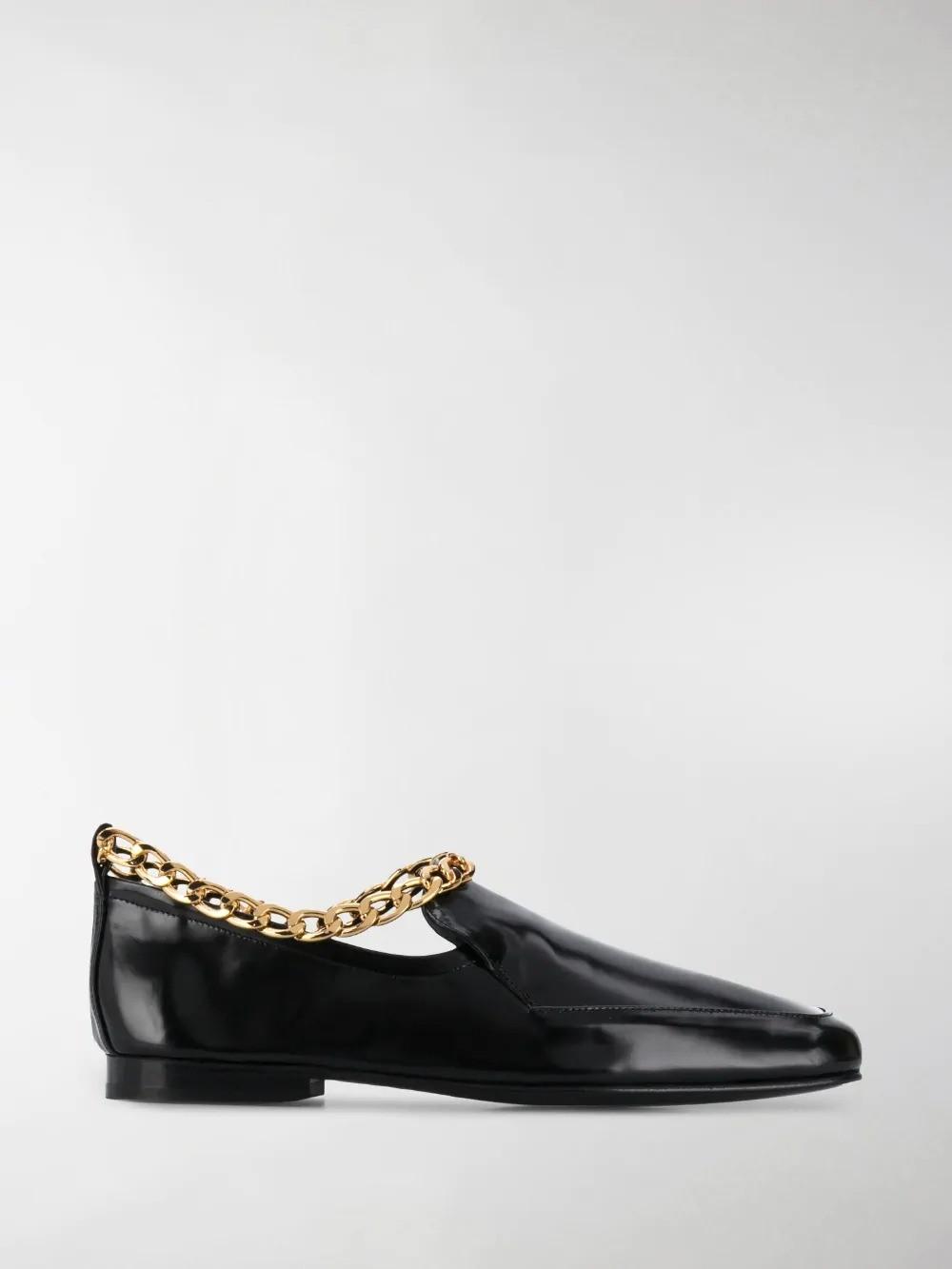 BY FAR 链条平底鞋