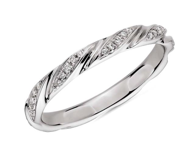 涡状钻石女士戒指