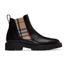 Burberry 经典印花真皮短靴