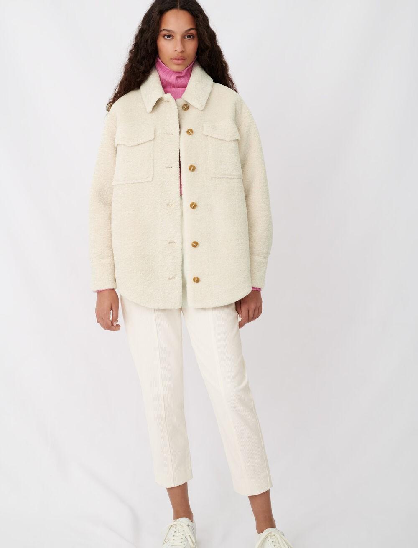 羊羔绒衬衫夹克