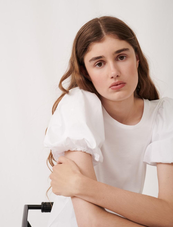花苞袖T恤