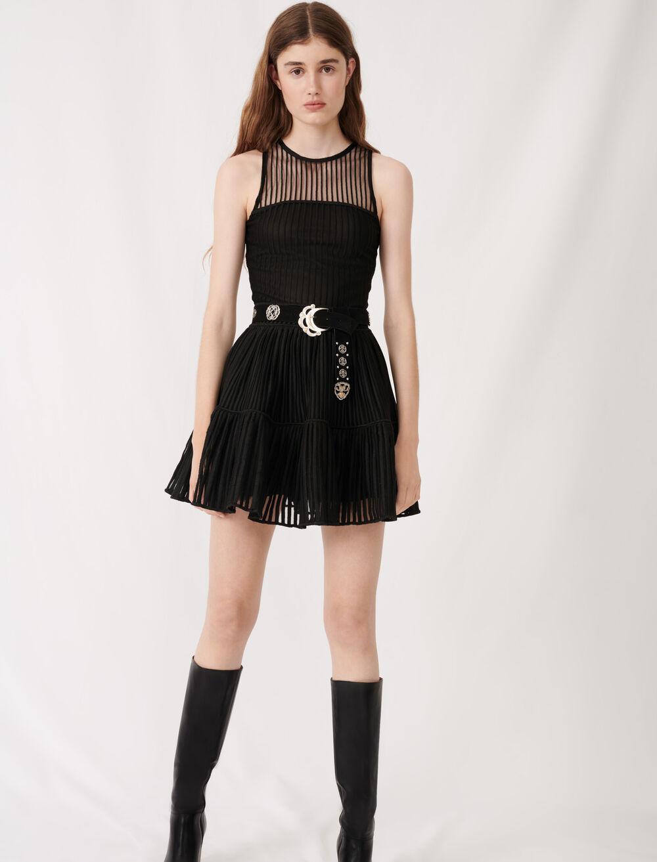 镂空针织溜冰裙