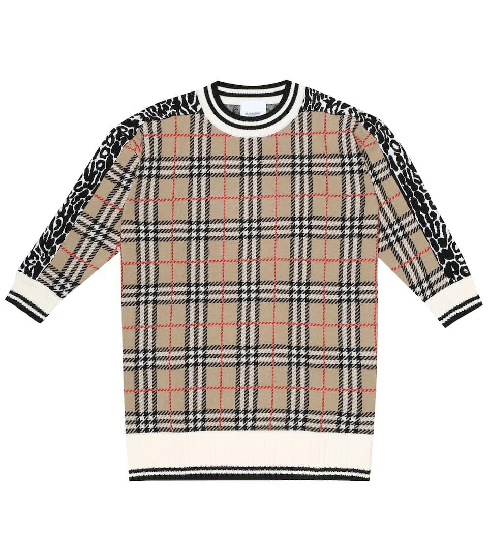 BURBERRY 羊毛连衣裙