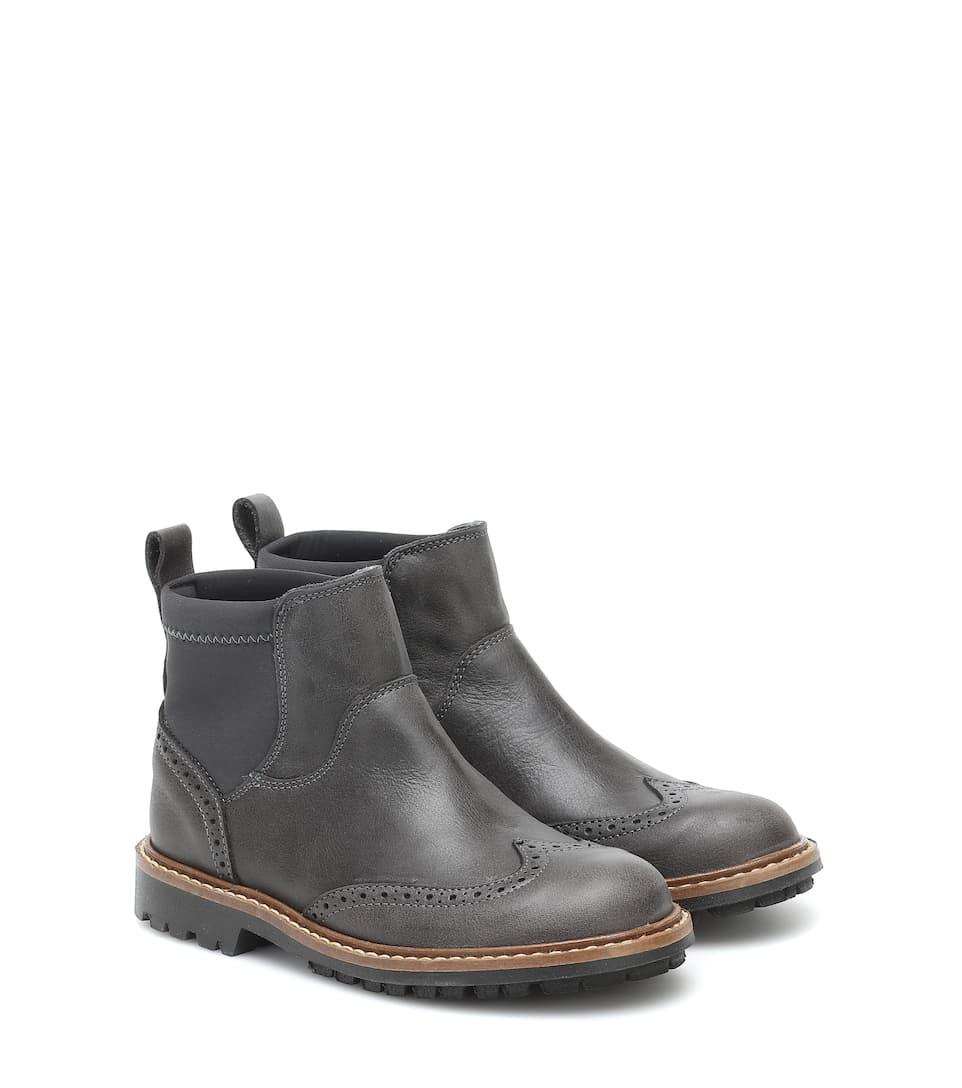 BONPOINT 皮革切尔西靴