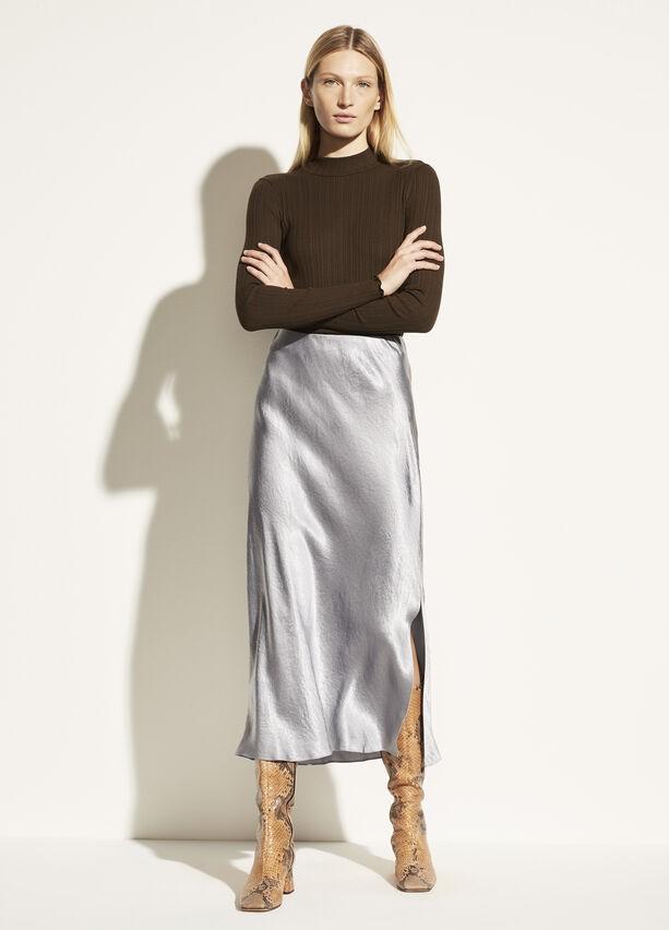 丝质半身裙