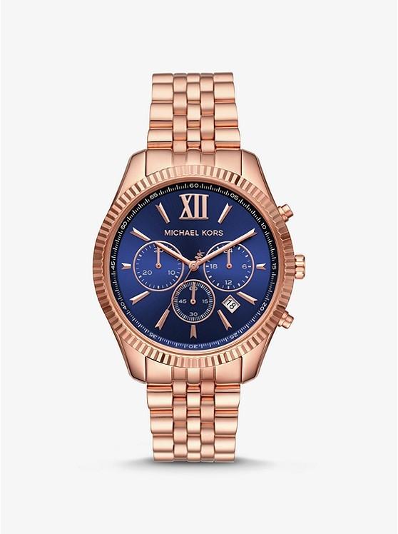 列克星敦玫瑰金色调手表