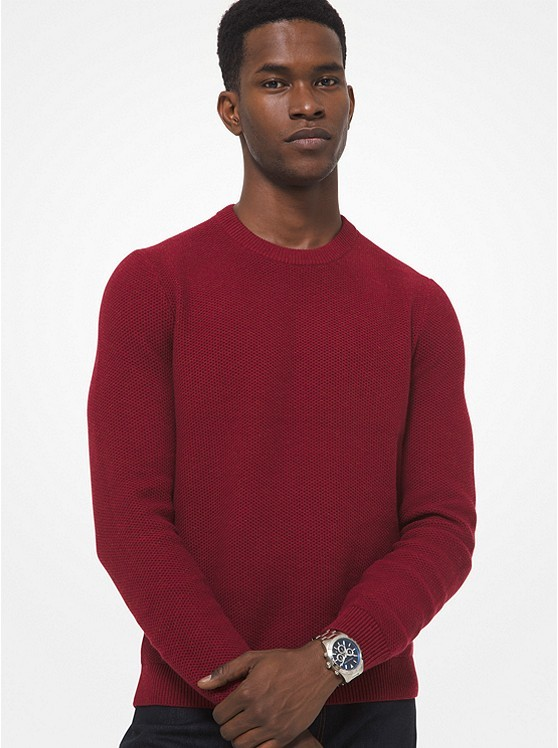 质感棉混纺毛衣
