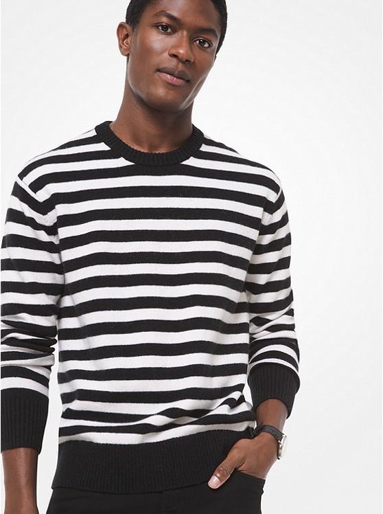 条纹羊毛衫