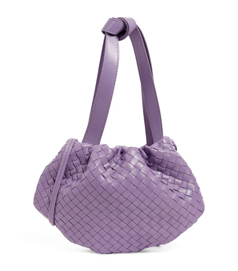 香芋紫编织手提包