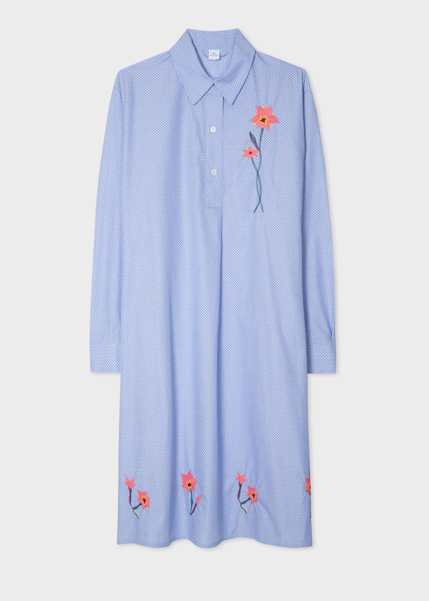 印花衬衫长裙