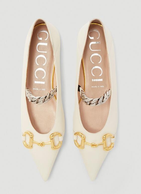 Gucci尖头平底鞋